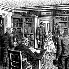 wood-engraving print: The Magistrate for The Runaway
